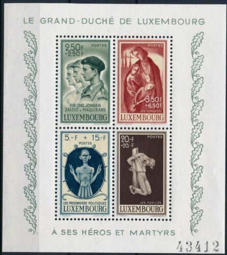 [P15330] Luxembourg 1946 : Good Very Fine MNH Sheet - $35 - See Description