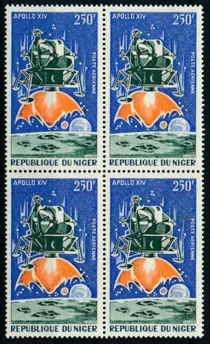 [P16156] Niger 1971 : Space - 4x Good Very Fine MNH Airmail Stamp in Block