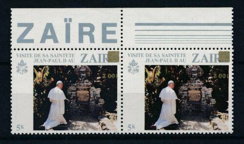 [33625] Zaire Good pair inverted overprint Very Fine MNH stamps