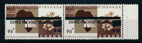 [33628] Zaire Good pair inverted overprint Very Fine MNH stamps