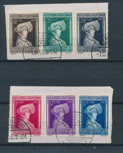 [34258] Luxembourg 1936 Good set on pieces paper Very Fine used stamps