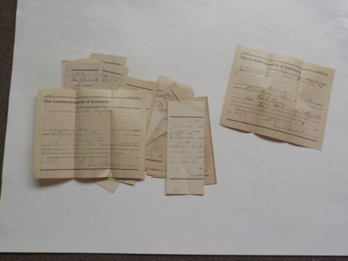 22 Antique Documents 1900s Sheriff Pendleton County Kentucky Papers Legal Court