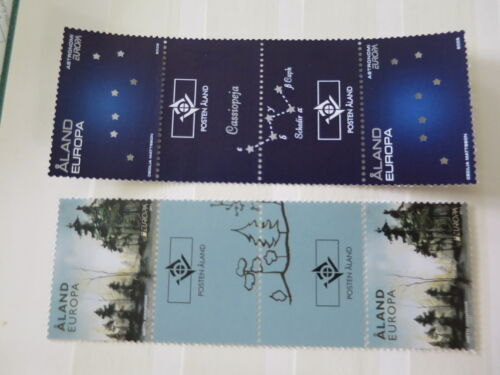 CEPT  ALAND ( Finland ) 2009 & 2011  facial 4, 40 € gutter pairs ** - ni ! /DL877