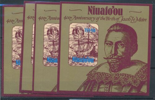 [22047] Niuafoou 1985 4x good gum adhesive sheet very fine MNH imperf