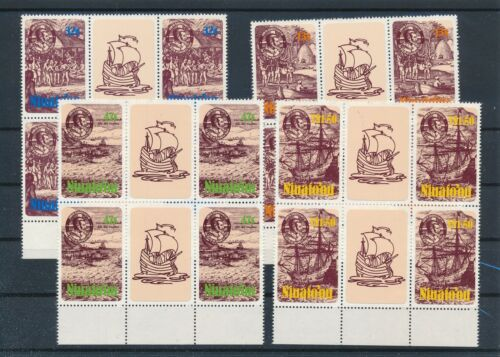 [G28212] Niuafoou 1985 4x good gum adhesive set very fine MNH stamps imperf