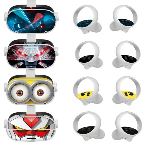 Cute Protective Stickers Skin Cover Set for Oculus Quest 2 VR Glasses Controller