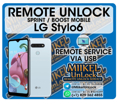 Network Unlock Service LG Stylo 6 Sprint Boost Mobile - Remote by USB