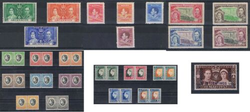 1937 Coronation issues GB Commonwealth MNH M/mint or Used Discounts to 30%
