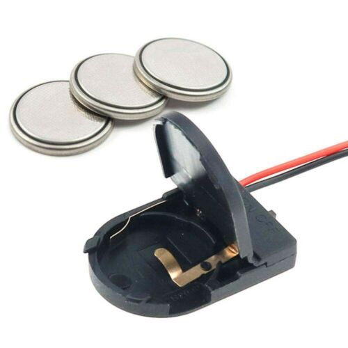5PCS CR2032 Button Coin Cell Battery Socket Holder Case Cover With Switch