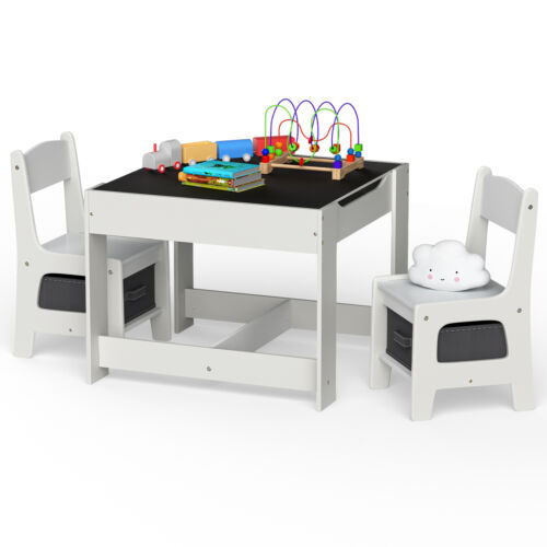 Kids Functional Desk and Chair Set Height Adjustable Children School Study Table