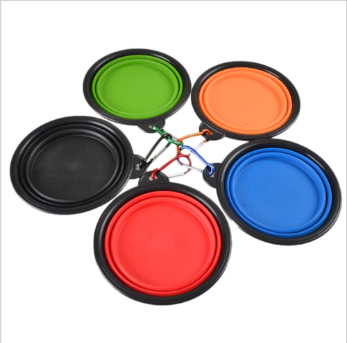 Pet Travel Silicone Bowl for DogCat Feeders Camping Portable Foldable Bowel Dish