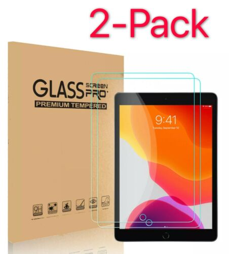 """2-Pack Tempered Glass Screen Protector For iPad 2 3 4 Air Pro 9.7""""10.2'10.5"""" 11"""""""