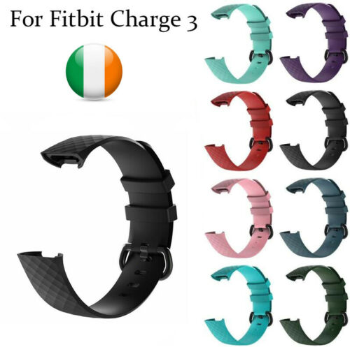 Watch Strap for Fitbit Charge 3 4 Replacement Band Luxury Silicone Buckle Large