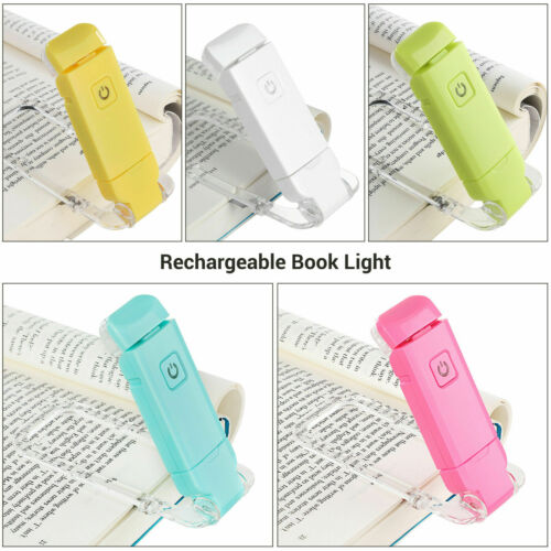 DEWENWILS Rechargeable Book Light for Reading in Bed Clip On Book Warm White