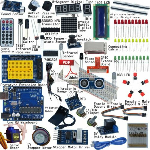 🔥Kit 32 Learning Starter Set For Arduino UNO R3 LCD1602 Upgraded Learning Suit