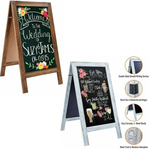 """Hot 40"""" A-Frame Chalkboard Sign with Stand Double Sided Rustic Black Board Easel"""