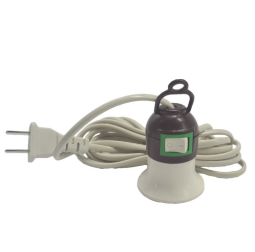 E27 Screw Hanging Light Lamp Bulb Holder Socket Switch with Power Cable Cord