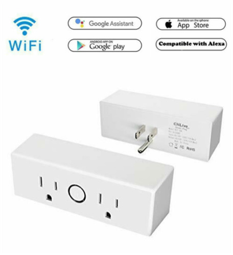 Smart WIFI Plug Outlet Socket Switch Remote Control by Alexa Google Home APP