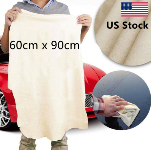 60x90cm Large Chamois Leather Car Cleaning Washing Cloth Absorbent Drying Towel