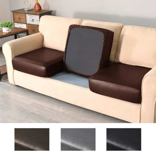 PU Leather Stretch Sofa Cushion Cover Waterproof Elastic Couch Chair Protector