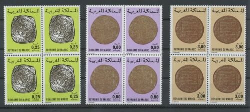 [P865] Morocco 1980 Old coins set very fine MNH stamps in blocs 4 value $160