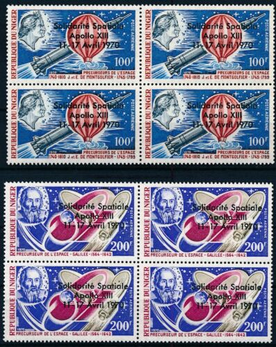 [P16152] Niger 1970 : Space - 4x Good Set Very Fine MNH Airmail Stamps