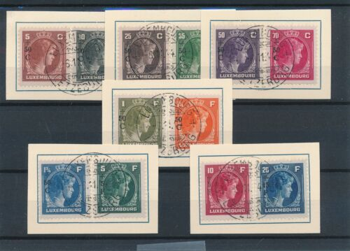 [34279] Luxembourg 1944 Good set on pieces paper Very Fine used stamps