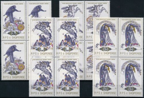 [P15314] Albania 1989 : 4x Good Set Very Fine MNH Stamps in Blocks