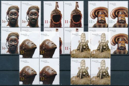 [P15349] Angola 2002 : 4x Good Set of Very Fine MNH Stamps in Blocks