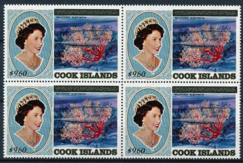 [P15785] Cook 1984 : Corals - 4x Good Very Fine MNH Stamp in Block - $75