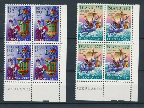 [21904] Iceland 1981 europa CEPT 4x good set very fine MNH stamps in blocks