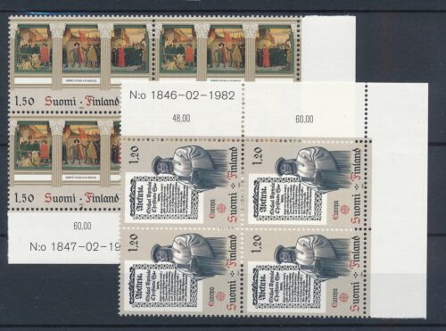 [22179] Finland 1982 europa CEPT good lot in blocks of 4 stamps VF MNH