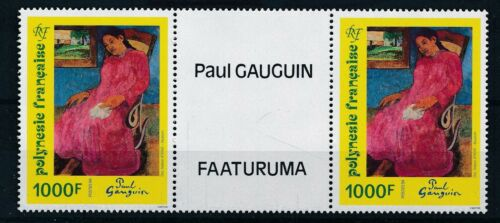 [332200] Fr Polynesia 1994 painting good very fine MNH stamp gutterpair