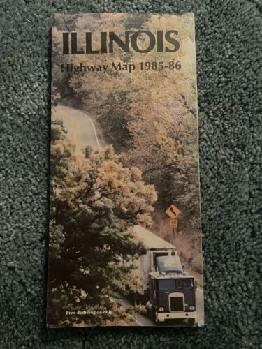 1985 1986 Illinois official highway state road map