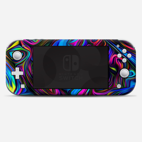 Skins Decals wrap for Nintendo Switch Lite - Neon Color Swirl Glass