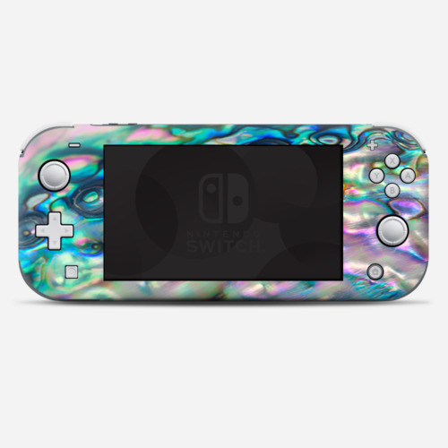 Skins Decals wrap for Nintendo Switch Lite - Abalone shell pink green blue opal