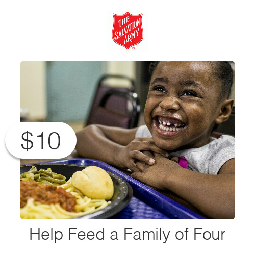 $10 Charitable Donation For: Feeding Dinner to a Family of Four