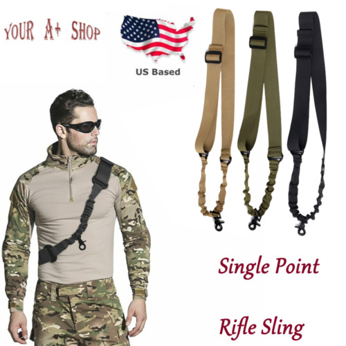 🔥 One Single Point Rifle Sling Tactical Gun Sling Strap with Length Adjustable
