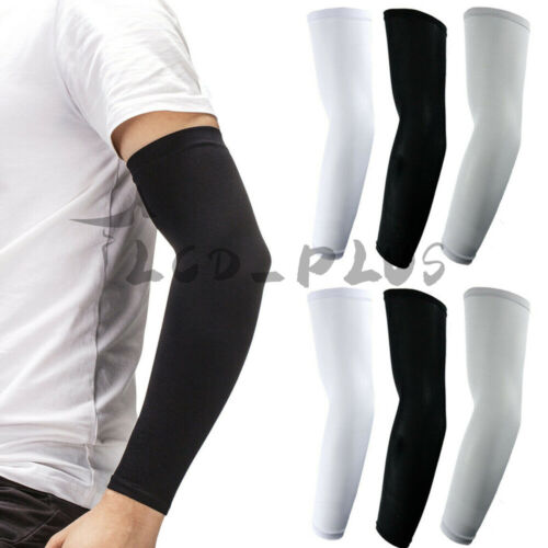 4 Pairs Cooling Arm Sleeves Cover UV Sun Protection Outdoor Sports Basketball