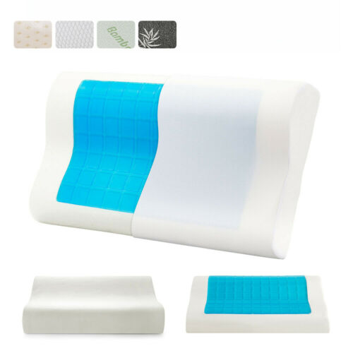Memory Foam Cooling Gel Pillow Orthopedic Cervical Neck Support Sleeping Pillow