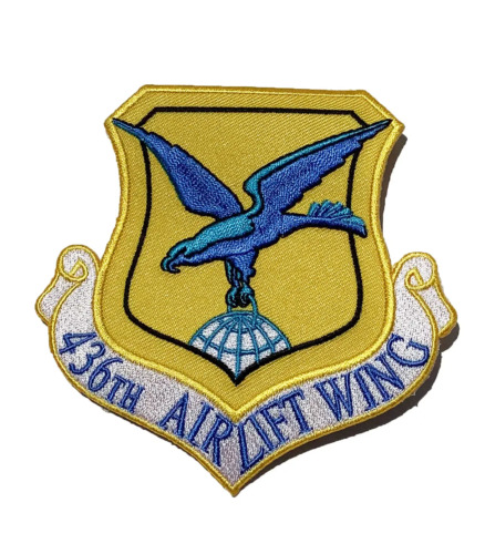 436th Airlift Wing Patch – Plastic Backing