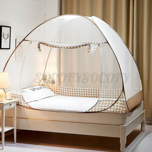 Automatic Portable Bed Canopy Mosquito Net Folding Tent Netting Prevent Insect