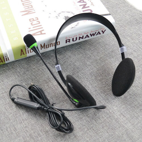 USB Headset Earphone for Compurter Laptop Chat Call With Mic Noise Cancelling