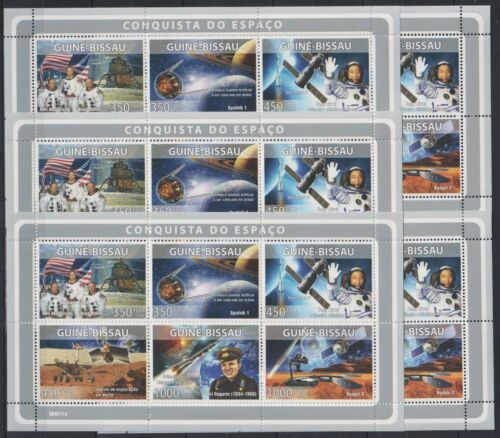 A459. 5x Guinea-Bissau - MNH - Space - Famous People - 2008