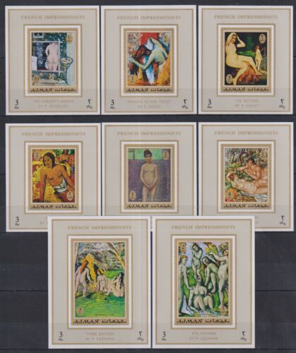 T459. Ajman - MNH - Art - Paintings - French Impressionists - Deluxe