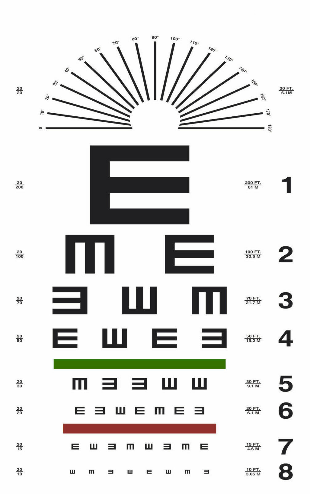 Best opticians eye chart deals compare prices on dealsan geenschuldenfo Choice Image