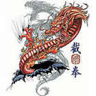 RIP OUT DRAGON GIFT T-SHIRT JAPANESE ASIAN ORIENT  LD