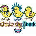 CHICKS DIG PUNK T-SHIRTS GIFT NOVELTY JUNIORS TEENS Gildan Ultra Cotton Tee