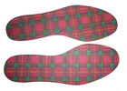 Mens Tartan Insoles in sizes 7 to 12