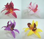 Orchid flower Hair Clip 4.00 Inch. Choose the color